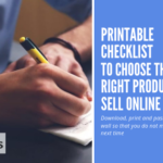 printable checklist to choose the right products to sell online
