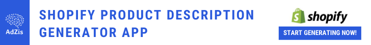 Shopify Product Description Generator App